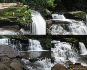 Multiple views of Cayuga Fallls